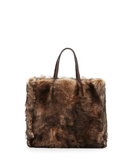 Easy Small Lamb Shearling Tote Bag