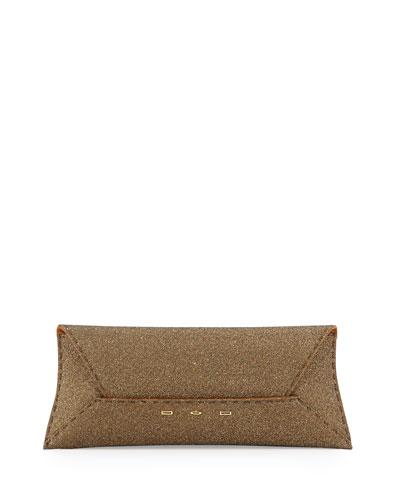Manila Sparkle Stretch Clutch Bag  Golden