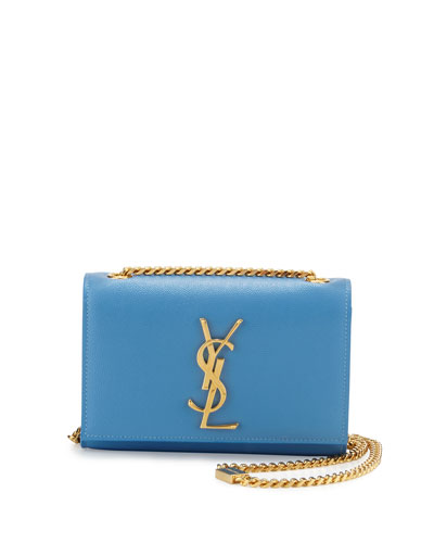 Monogram Small Crossbody Bag, Light Blue