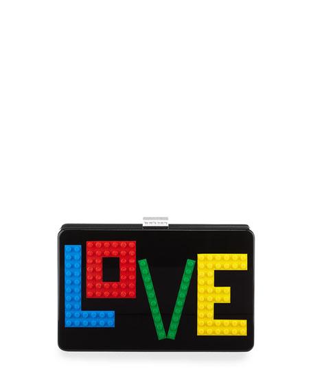 Les Petits Joueurs Andy Rainbow Love Clutch Bag,