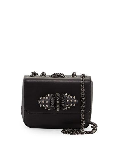 Sweet Charity Baby Calfskin Shoulder Bag, Black