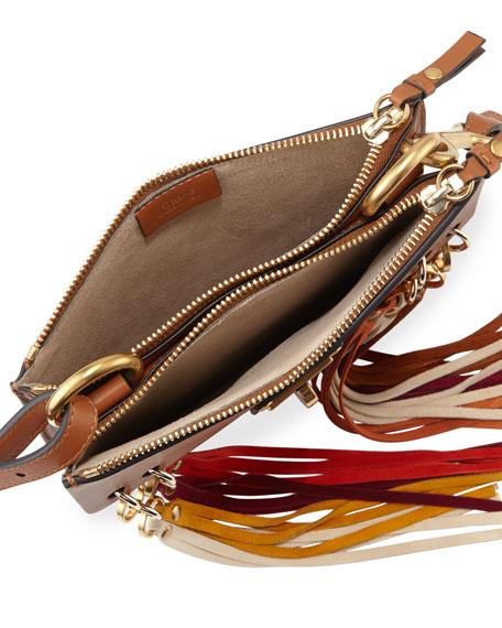 Jane Small Tassel-Trim Leather Crossbody Bag