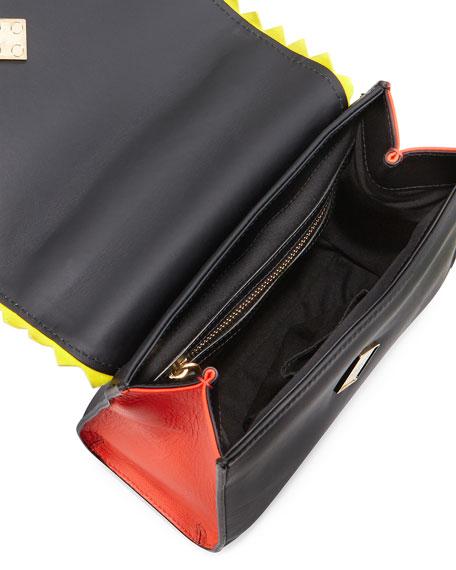 Alex Mini Black Widow Shoulder Bag, Black/White/Red