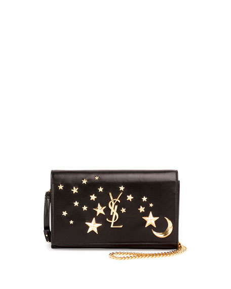 saint laurent monogram flap moon  u0026 stars wallet