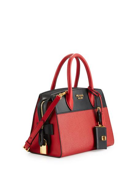 Prada Esplanade Medium Leather City Satchel Bag AFTei8Xzz