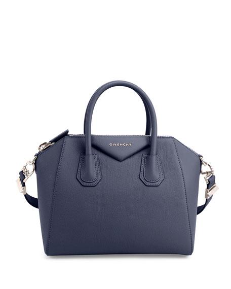 Antigona Small Sugar Satchel Bag, Night Blue