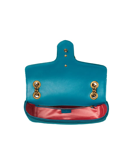 GG Marmont 2.0 Small Quilted Velvet Crossbody Bag