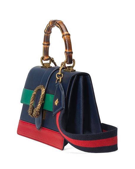 Dionysus Small Web-Stripe Top-Handle Satchel Bag