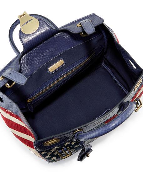 American Flag Ricky Bag, Red/Blue