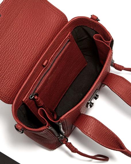 Pashli Mini Leather Satchel Bag, Brick