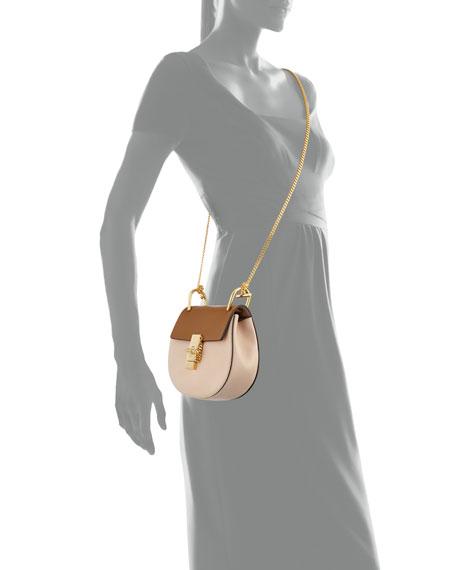 Drew Mini Colorblock Shoulder Bag, Beige/Mustard