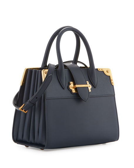ec317f1f3273 Prada Leather Trunk Tote Bag