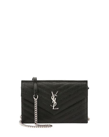 Monogram YSL Wallet on a Chain, Black