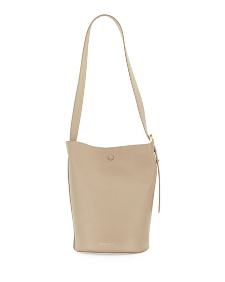 Grove Matte Leather Bucket Bag, Olive