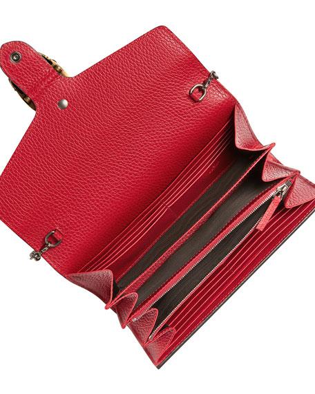 Dionysus Leather Mini Chain Bag, Red