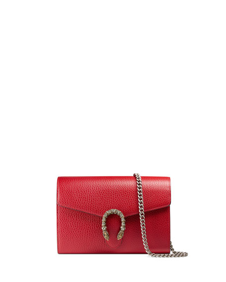 a3be1f37 Dionysus Leather Mini Chain Bag Red