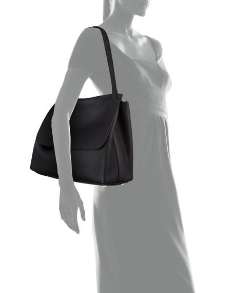 Top Handle 14 Leather Flap-Top Shoulder Bag