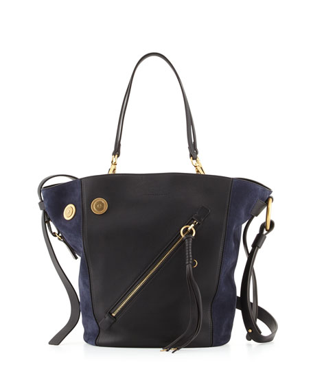 Chloe Myer Medium Leather Suede Tote Bag