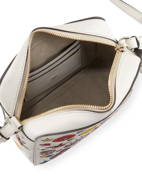 Allover Wink Sticker Crossbody Bag, Multi