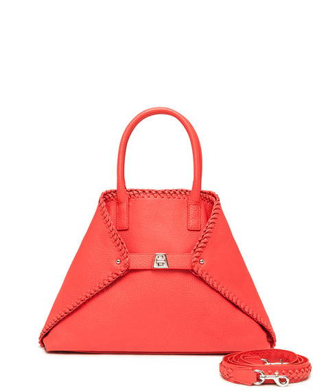 Ai Small Top-Handle Braided Shoulder Bag