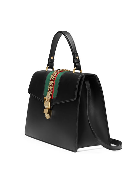 Sylvie Leather Top-Handle Satchel Bag