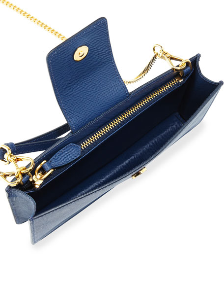 Saffiano Tab Chain Wallet