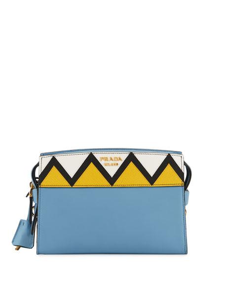 City Saffiano Zigzag Top-Handle Bag