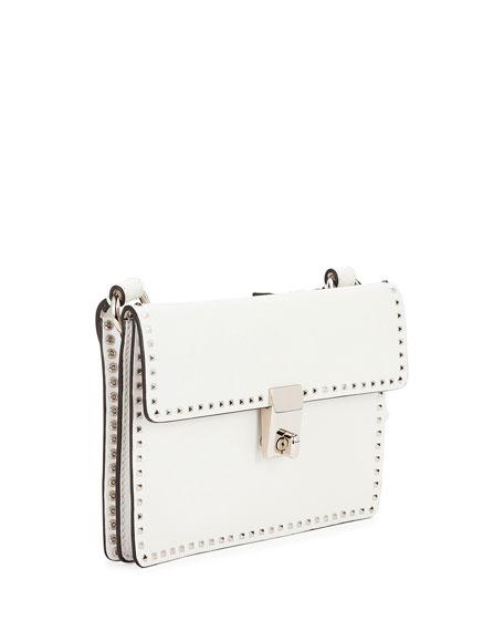 Rockstud Flap Leather Crossbody Bag