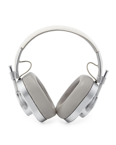 MH40 Over-Ear Headphones, White/Silvertone
