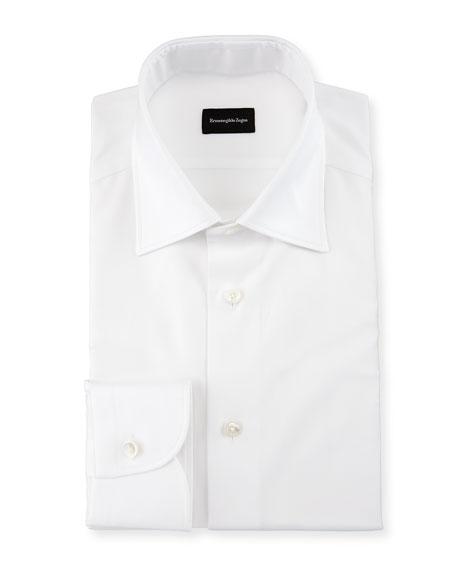 Solid Trofeo Dress Shirt, White