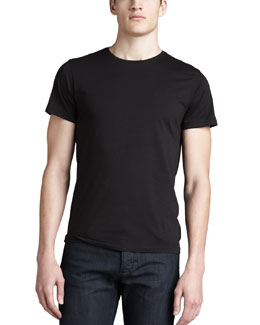 Theory Crew-Neck Tee, Black