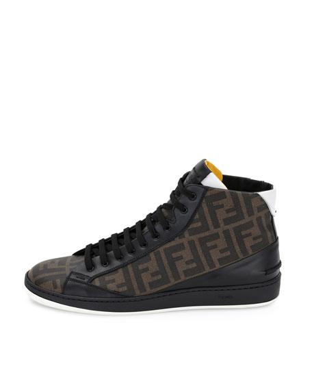 04c31fa015 Wimbledon Leather High-Top Sneaker Tobacco