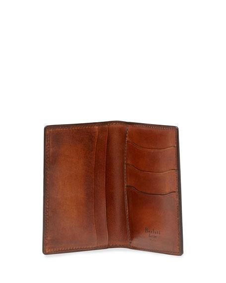 Scritto Bi-Fold Card Case, Brown