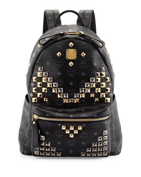 Stark M Stud Medium Backpack, Black