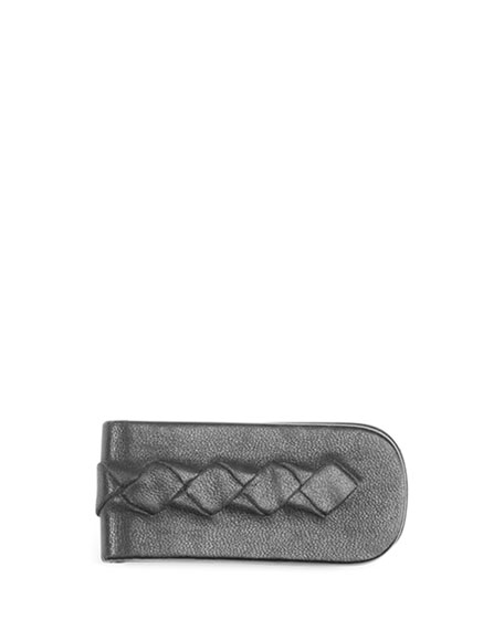 Woven Leather Money Clip