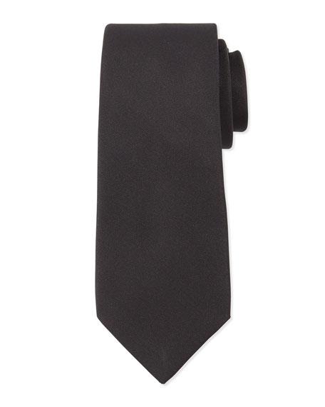 Lanvin Grosgrain Solid Tie, Black