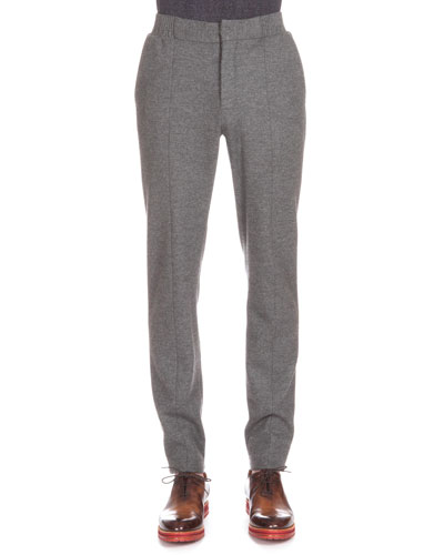 Flannel Jogger Pants, Charcoal