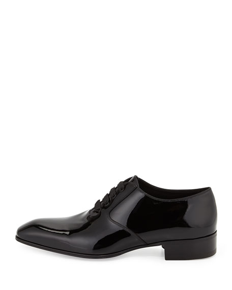 TOM FORD Gianni Patent Leather Lace-Up