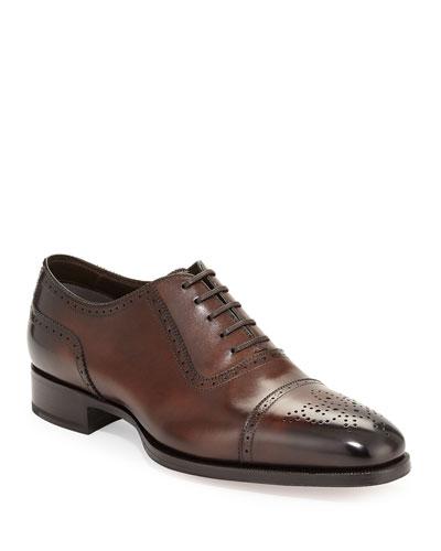 Austin Cap-Toe Oxford Shoe  Brown