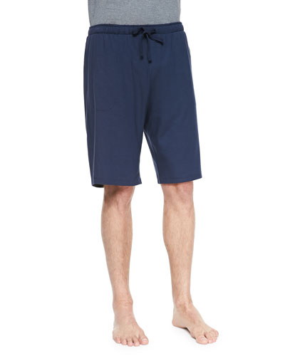 Basel Jersey Lounge Shorts  Navy