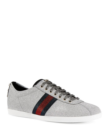 adadec71536 Gucci Men s Bambi Web Low-Top Sneakers with Stud Detail