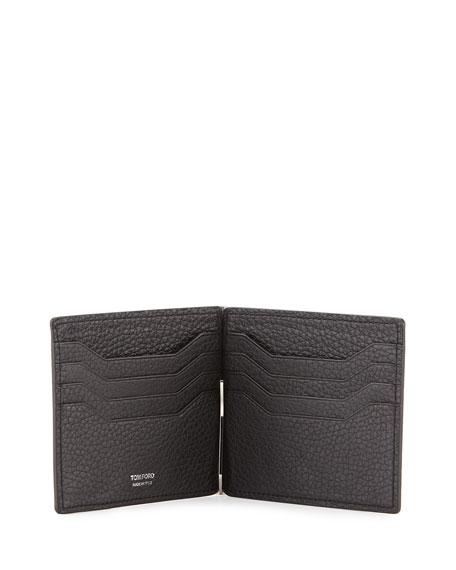 Men's Leather Bi-Fold Wallet with Money Clip