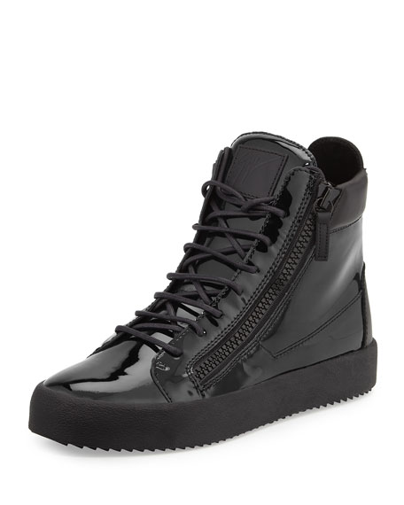 Giuseppe Zanotti Patent High-Top... collections wiki cheap online buy cheap fashion Style EaSvBbeI5