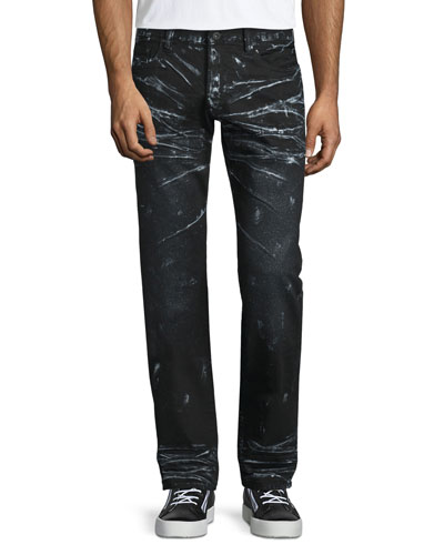 Barracuda Contrast-Whiskered Denim Jeans, Black