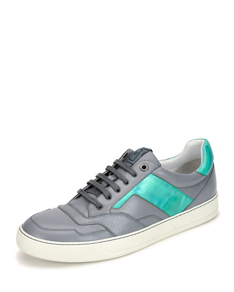 Lanvin Men's Hologram Leather Low-Top Sneaker