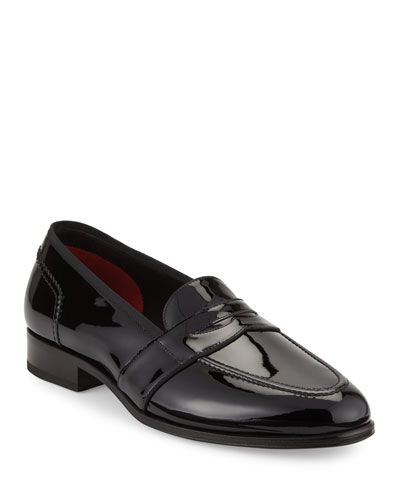Taylor Patent Leather Penny Loafer  Black