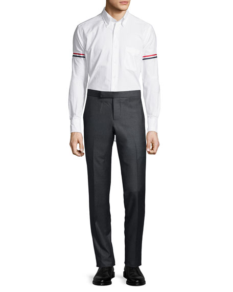 Classic Arm-Stripe Long-Sleeve Oxford Shirt