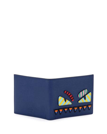 Monster Eyes Striped Wallet