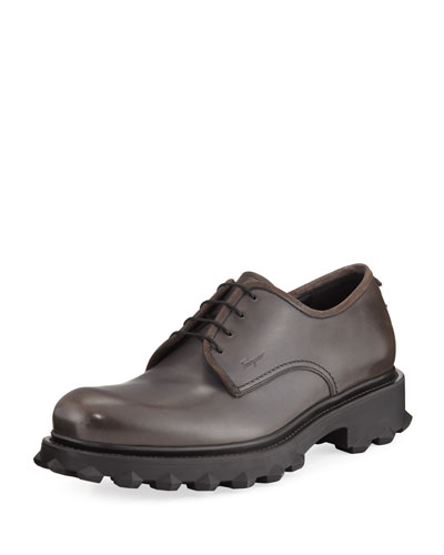 Lug-Sole Leather Loafer