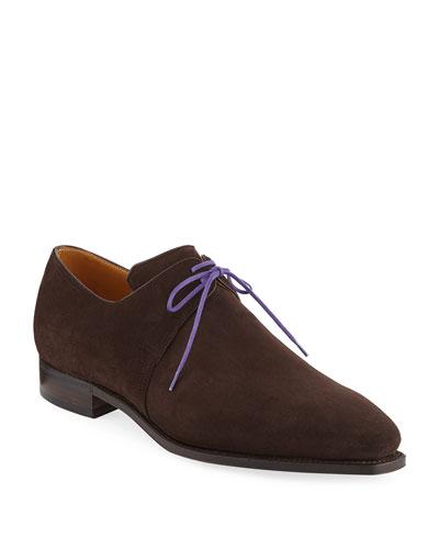 Arca Suede Lace-Up Shoe  Dark Brown